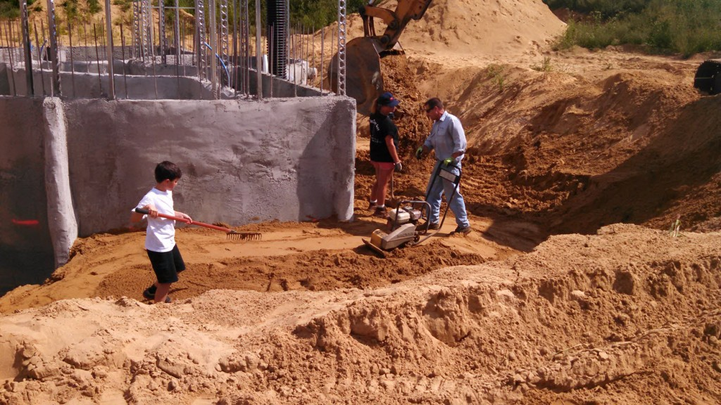 Backfill Around The Basement Home In The Earth