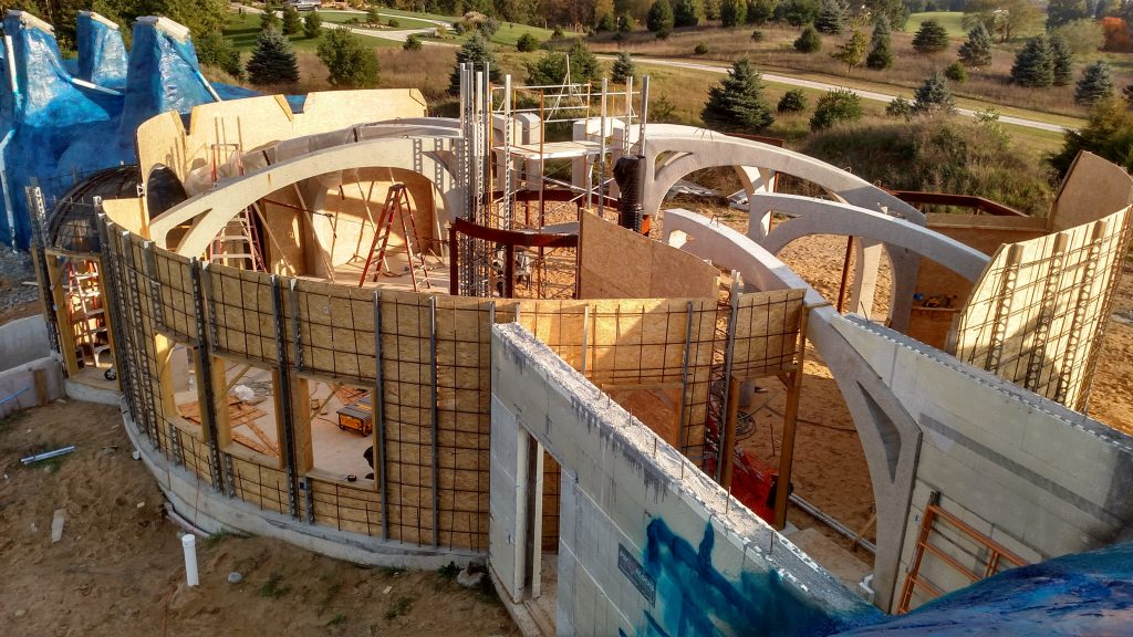 Another Round Of Shotcrete Forms Home In The Earth