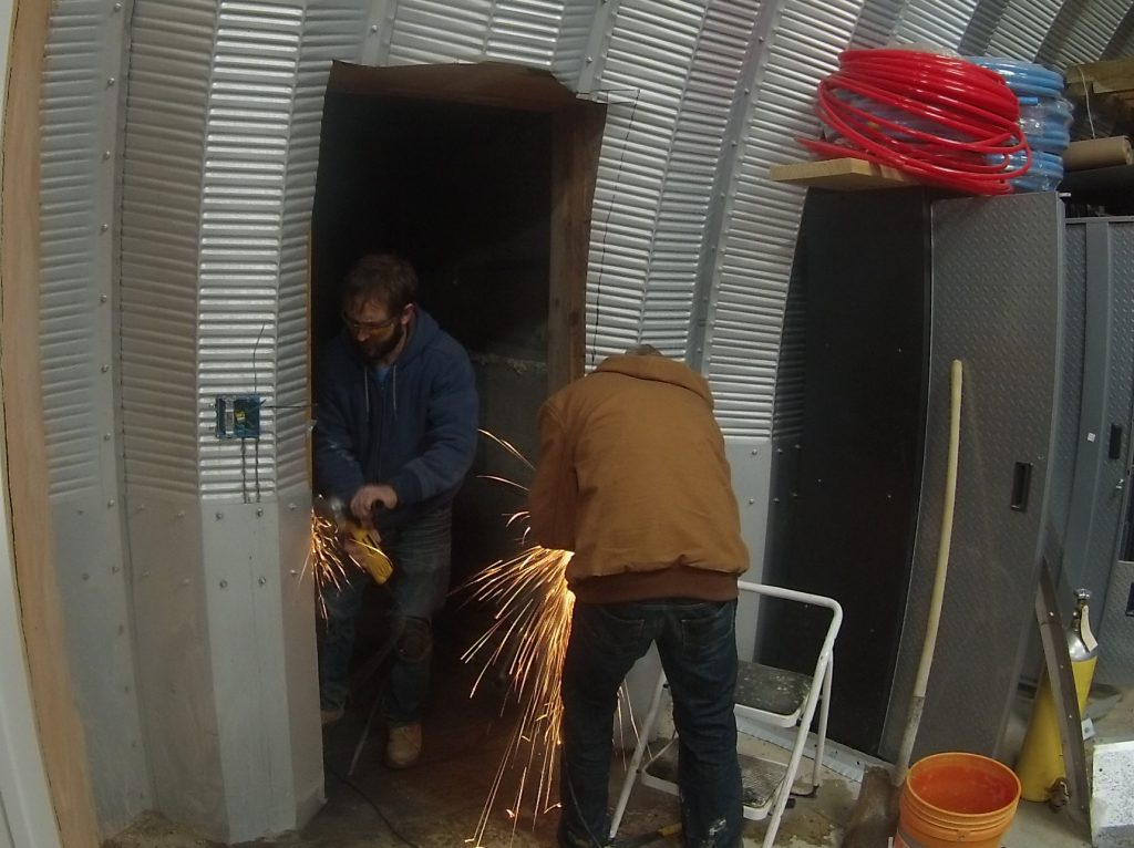 Cutting A Side Door In The Quonset Hut